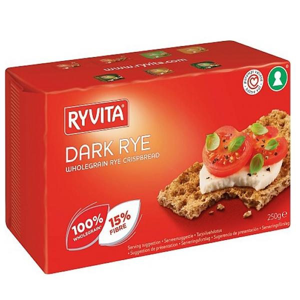 Хлебцы RYVITA 250 гр Ржаные из цельного зерна Dark Rye 12 шт<br>
