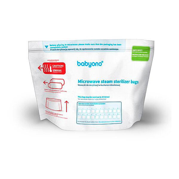 Пакеты BabyOno для стерилизации В микроволновой печи (5 шт.)<br>