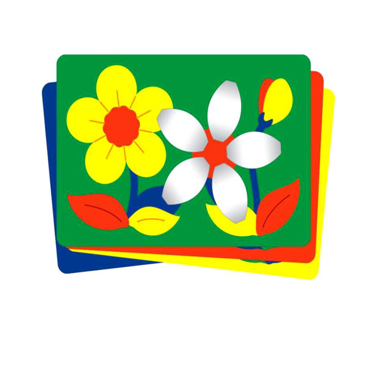Мозаика мягкая Флексика с объемными деталями Цветочки<br>