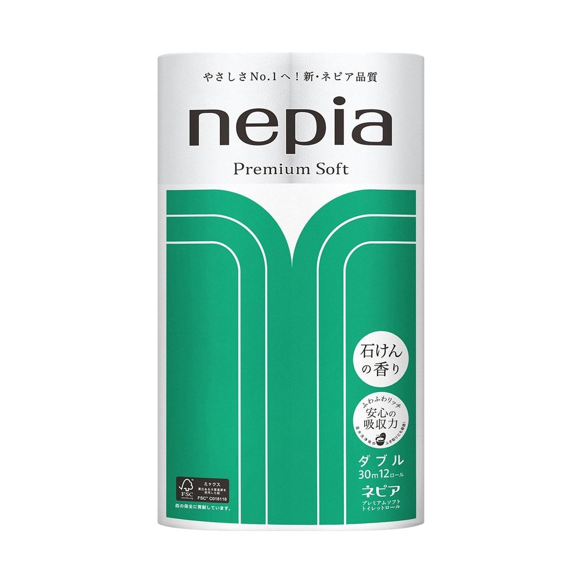Туалетная бумага Nepia Premium Soft (2 сл) с ароматом мыла 12 рулонов