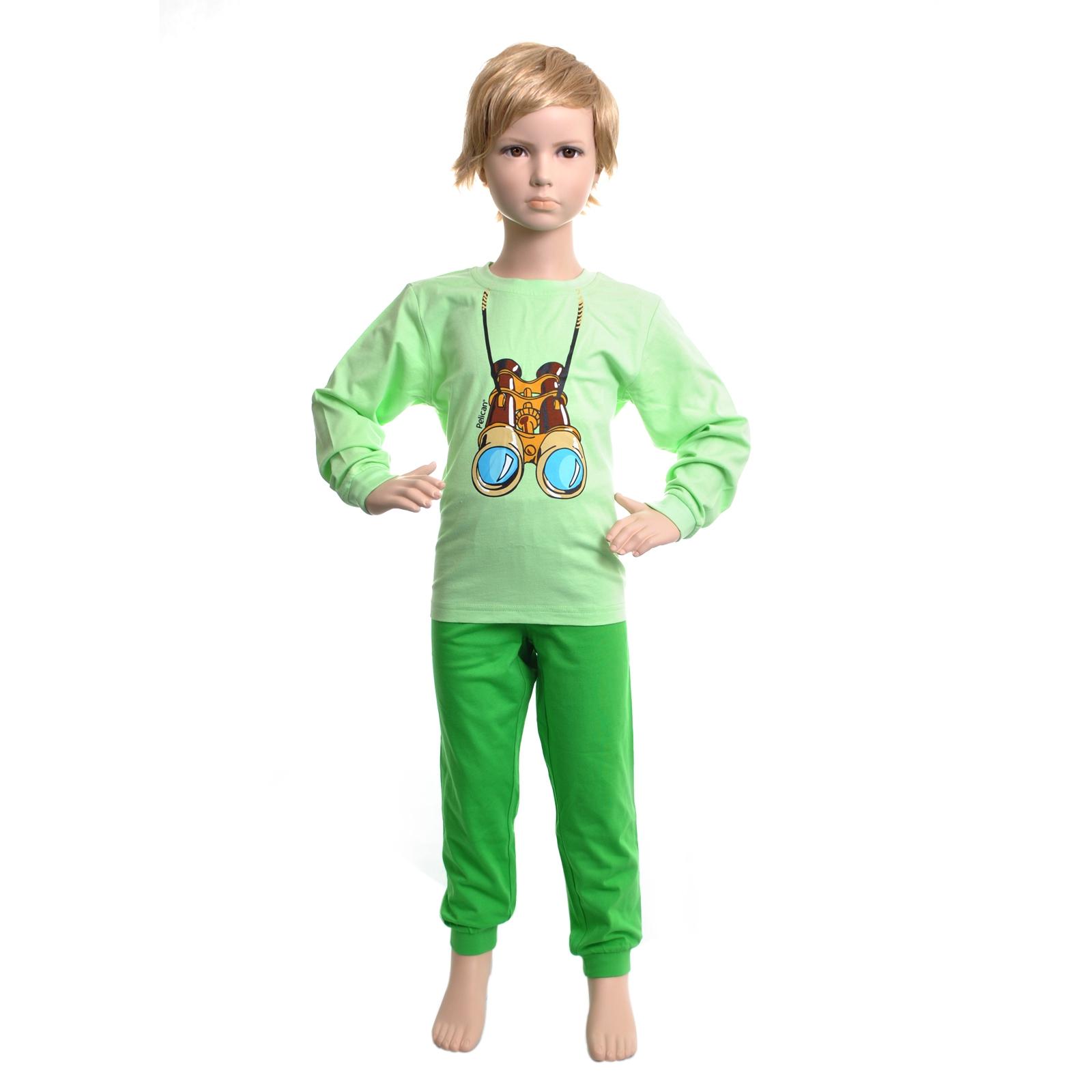 Пижама Pelican цвет Зеленый BNJP295 возраст 4 года