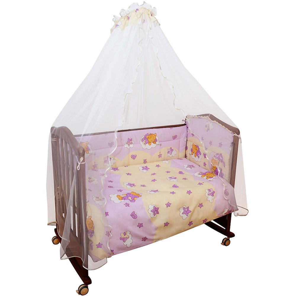 Борт в кроватку Сонный гномик Мишкин сон Розовый<br>