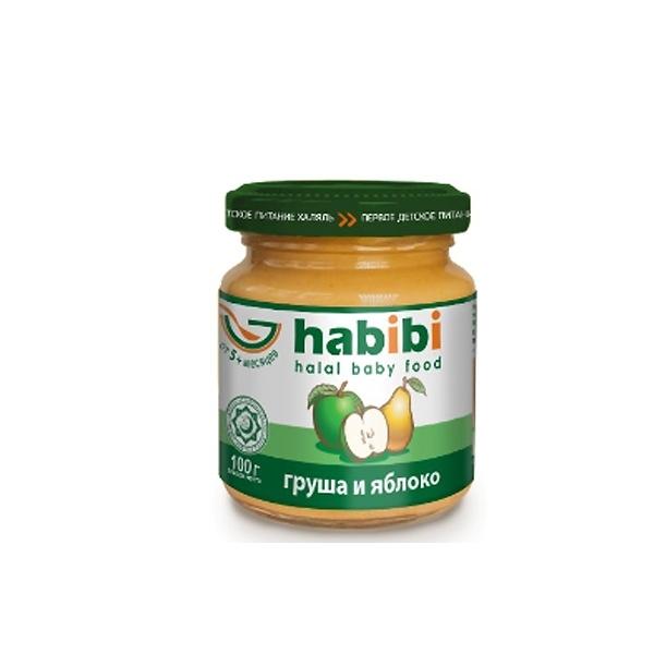 Пюре Habibi фруктовое 100 гр Яблоко груша (с 5 мес)<br>