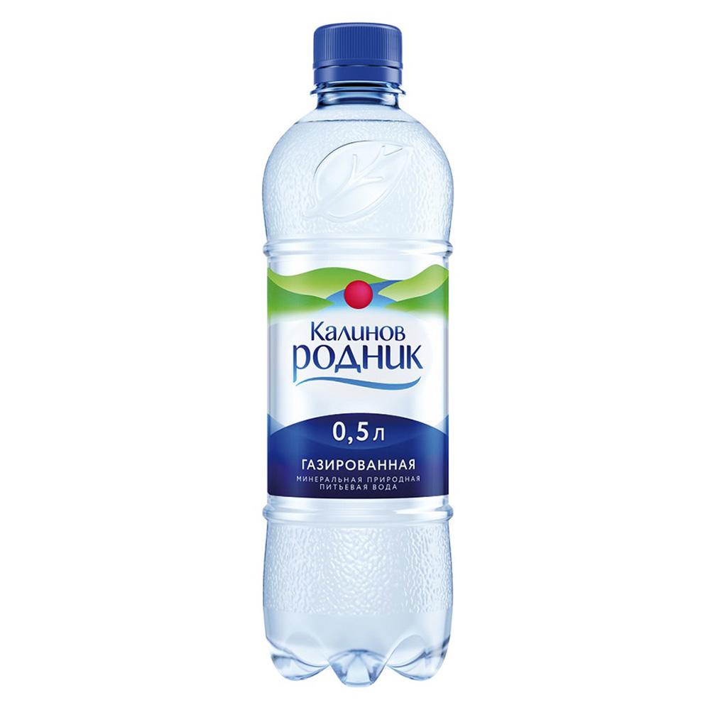 Вода Калинов Родник минеральная природная газ 0,5 л