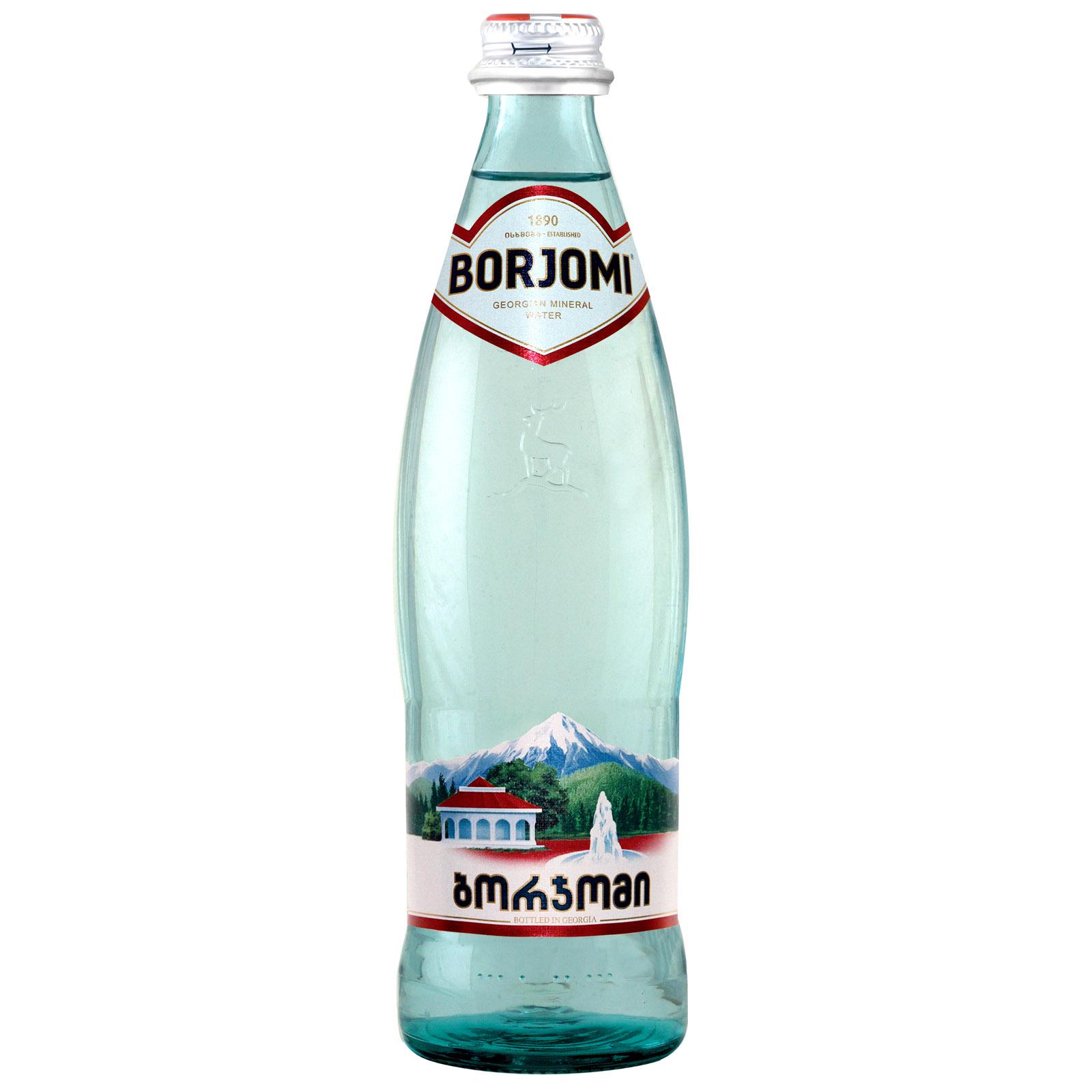 Вода минеральная Боржоми 0,5 л. стекло