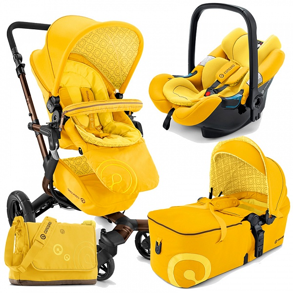 Коляска Concord Neo Mobility Set 3 в 1 Limited Edition Blazing Yellow<br>
