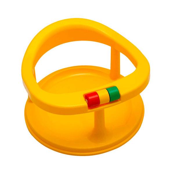 Сидение детское для купания Полимербыт на присосках цвет - Желтый<br>