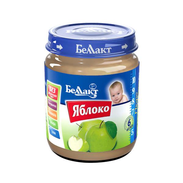 Пюре Беллакт фруктовое 100 гр Яблоко (с 6 мес)<br>