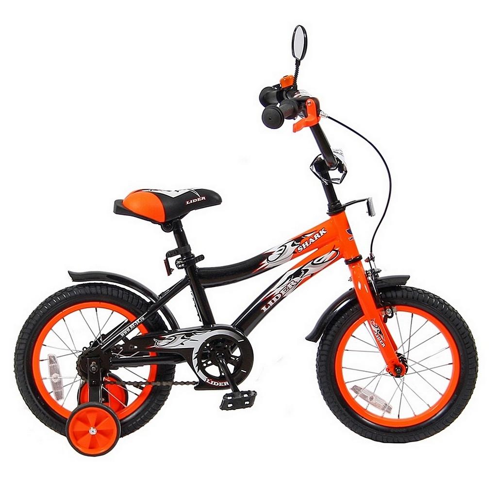Велосипед двухколесный Velolider 14 Lider Shark 14A-1487 Оранжевый/Черный<br>