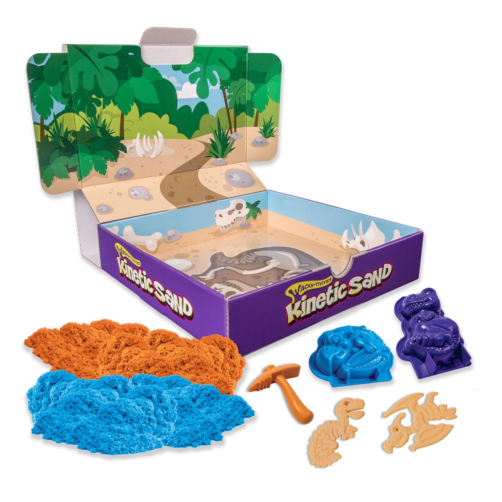 Кинетический песок Kinetic sand Игровой набор с формочками<br>
