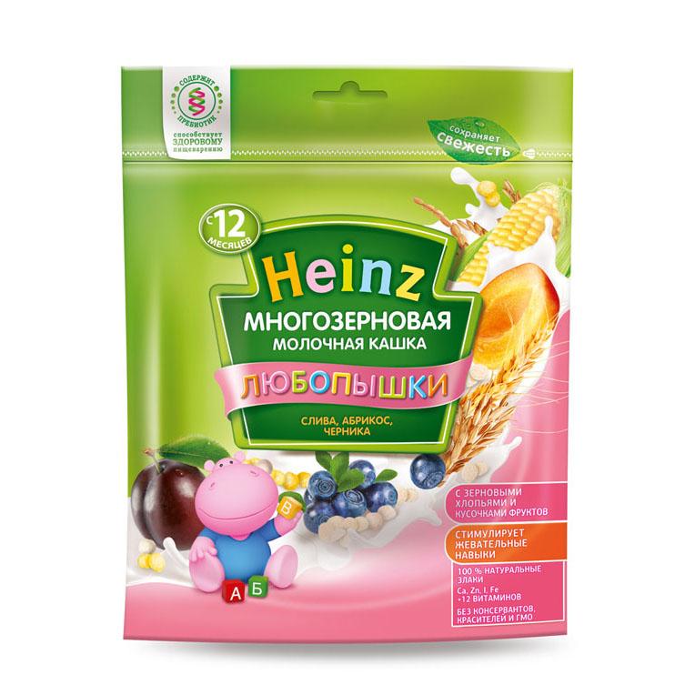 Каша Heinz Любопышка многозерновая молочная 200 гр Слива абрикос черника (с 12 мес)<br>