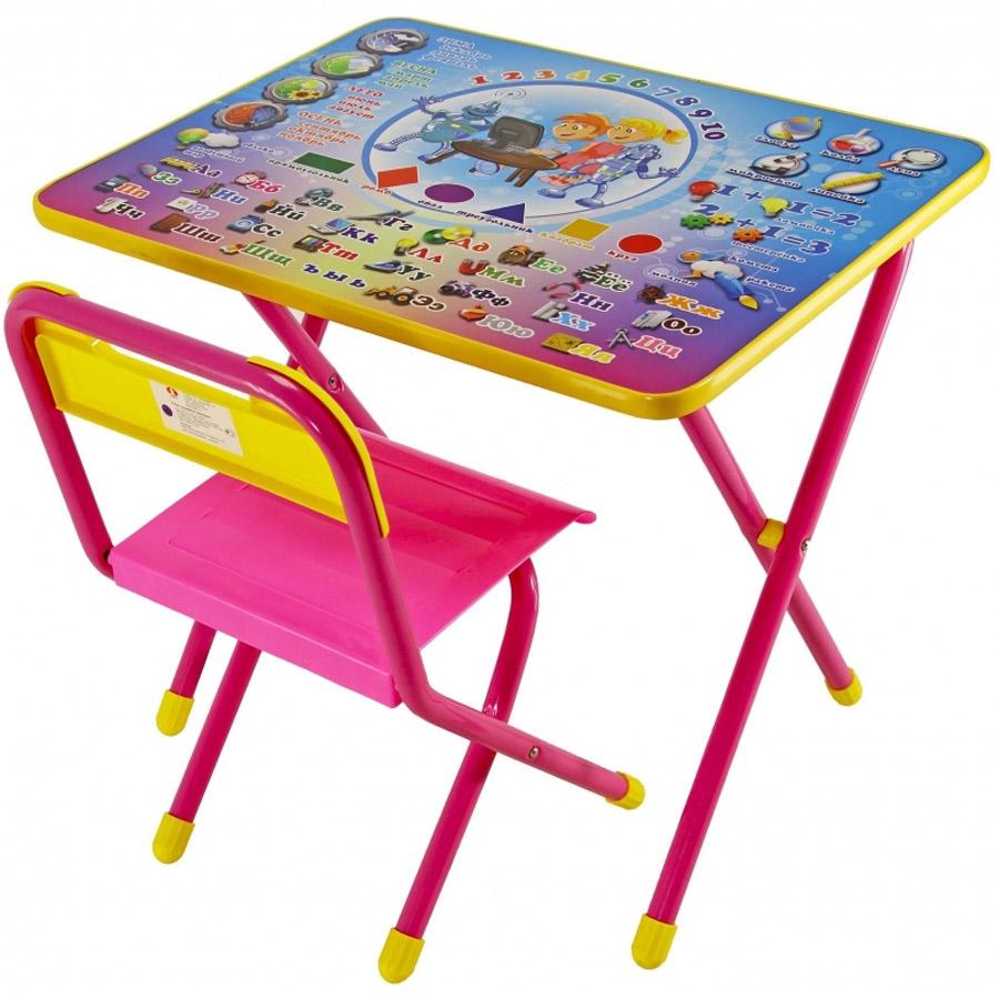 Набор мебели стол и стул Дэми №1 Электроник Розовый<br>