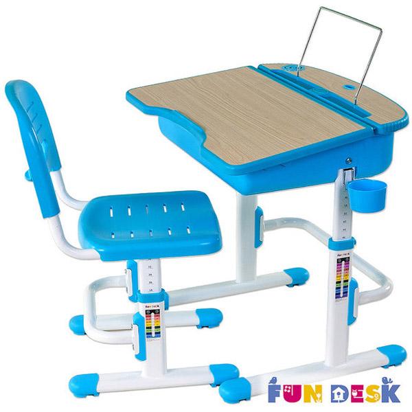 Набор мебели FunDesk Capri парта и стул Blue<br>