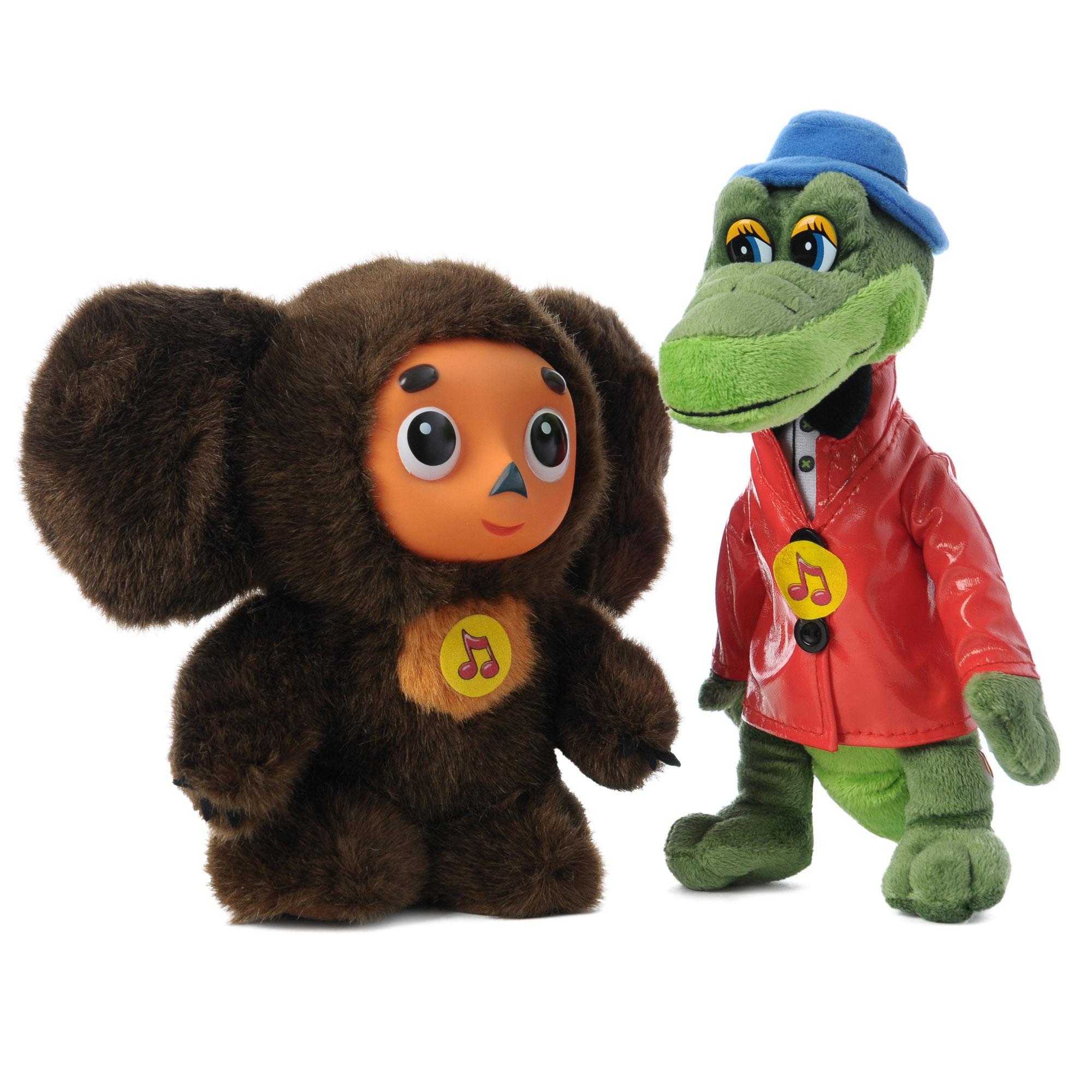 Мягкая игрушка Мульти-пульти Чебурашка 17 см и  Крокодил Гена 20 см<br>