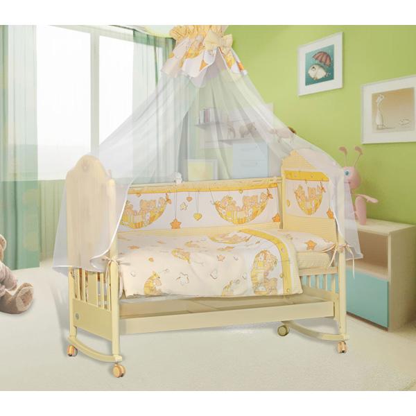 Комплект Папитто Мишки 7 предметов Желтый<br>