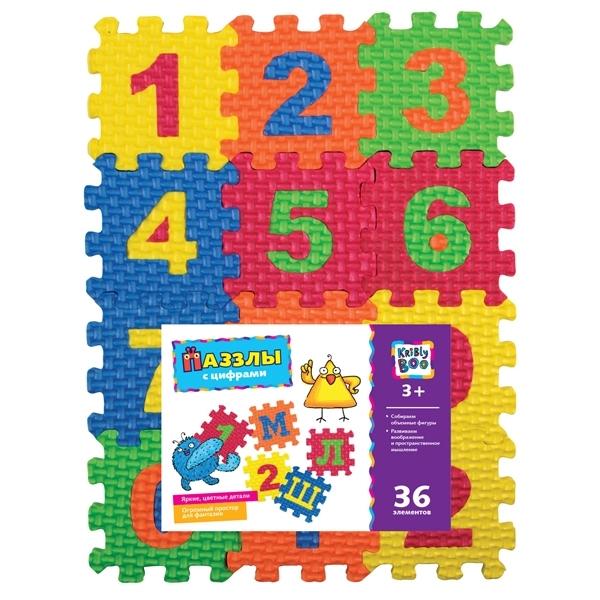 Пазлы Kribly Boo 36 элементов В ассортименте (С цифрами, С буквами)<br>