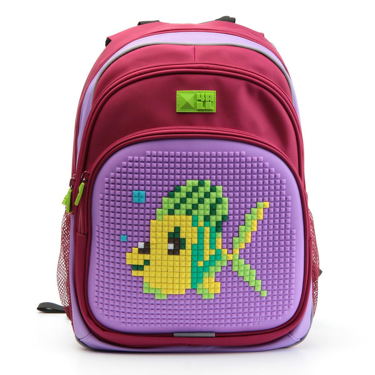 Рюкзак детский 4all KIDS Рыбка Тюна Малиновый / Сиреневый + Пиксели