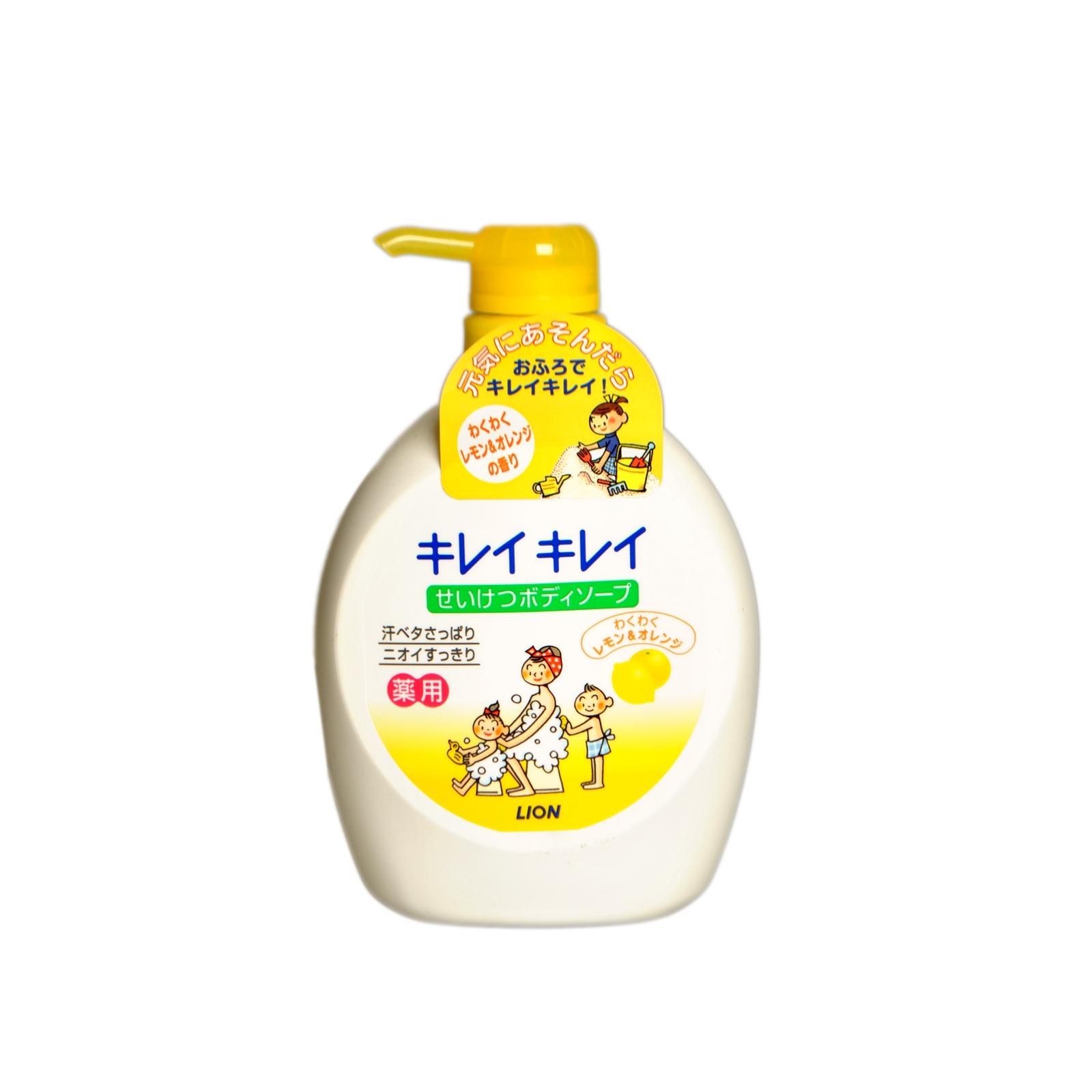 Жидкое мыло для тела Lion KireiKirei (с дезодорирующим эффектом с цитрусовым ароматом для всей семьи) 580 мл<br>
