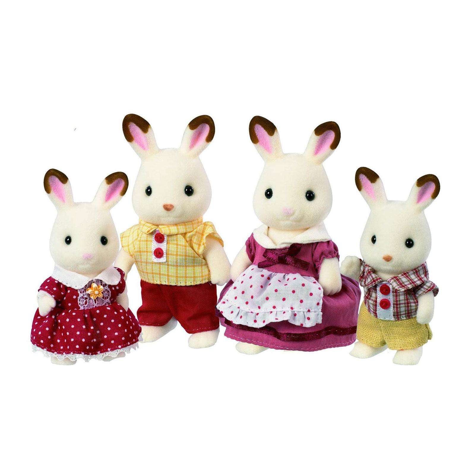 Фигурки животных Sylvanian Families Семья Шоколадных Кроликов<br>