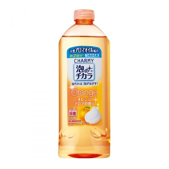 """Жидкое средство для мытья посуды Lion """"Очарование"""" Апельсин 400 мл. (запасной блок) от Младенец.ru"""