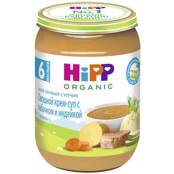 Пюре Hipp Мой первый супчик 190 гр Овощной с кабачком и индейкой (с 6 мес)<br>