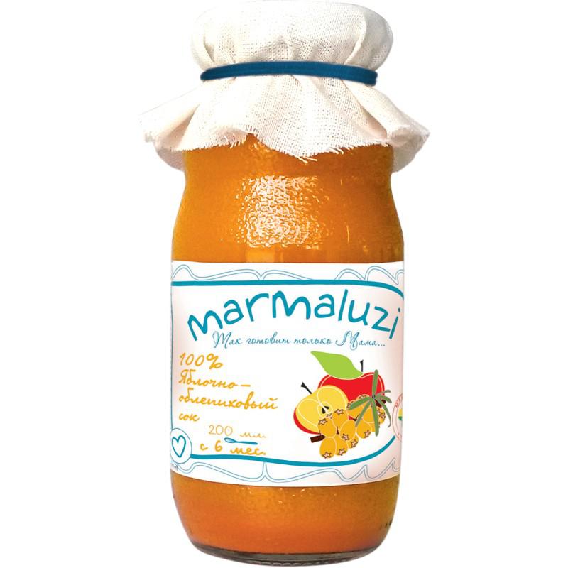 Сок Marmaluzi 200 мл Яблоко облепиха (с 6 мес)<br>