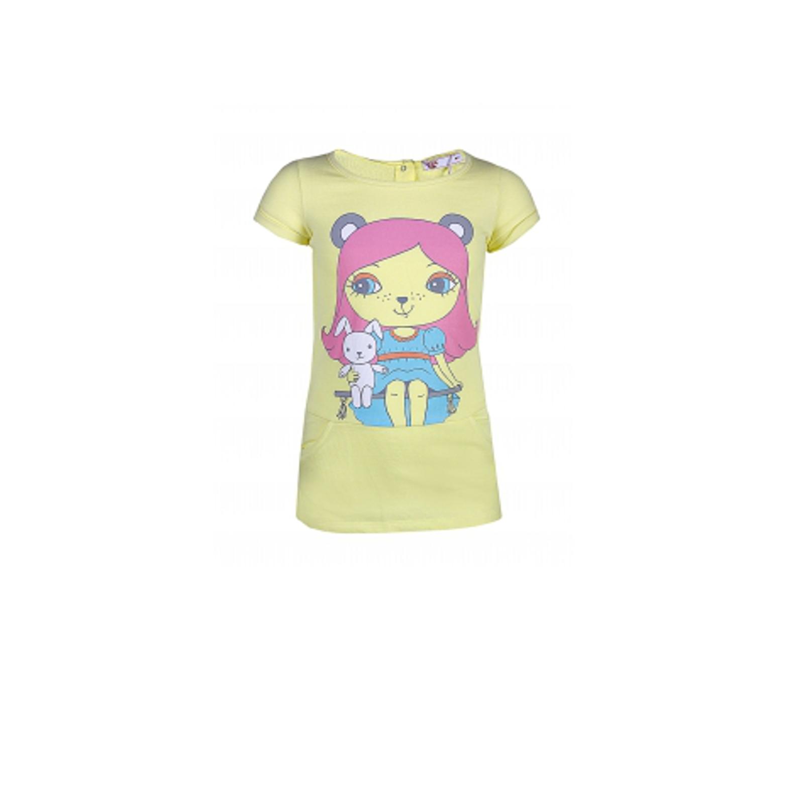 Платье для девочек FOX, цвет светло-желтый 6-12 мес.
