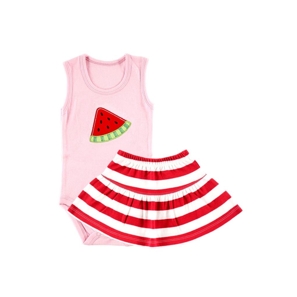 Комплект Hudson Baby Боди-майка и юбка Арбуз, 2 пр., для девочки, цвет розовый 0-3 мес. (55-61 см)