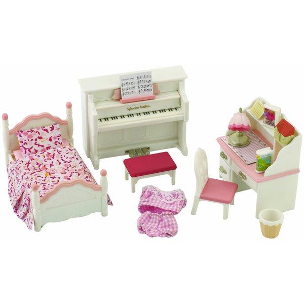Мебель и аксессуары Sylvanian Families Детская комната, бело-розовая<br>