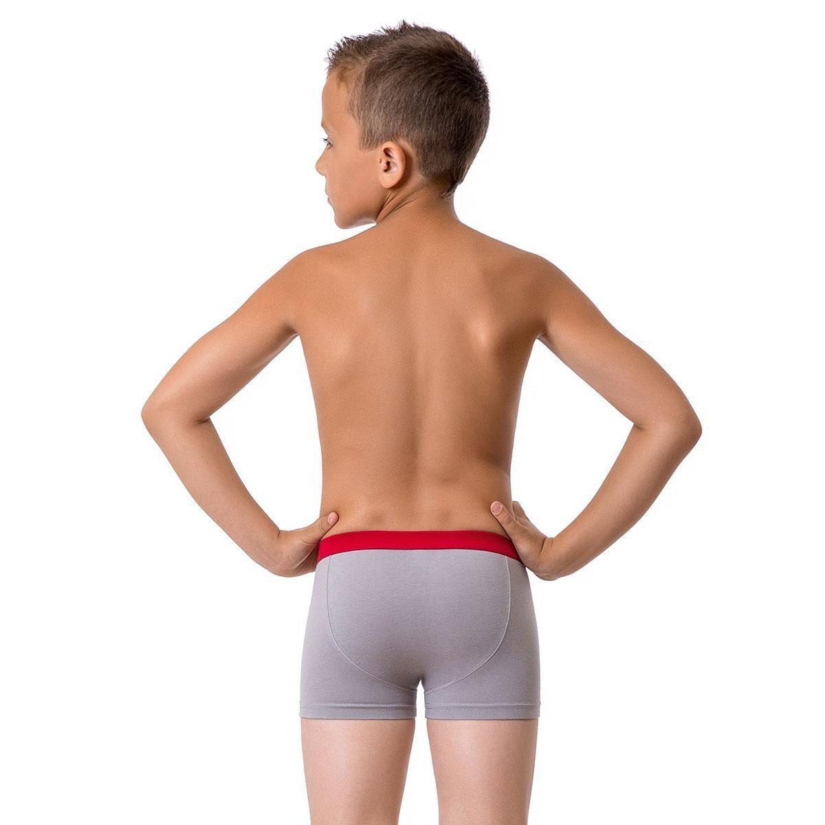 Трусы-боксеры для мальчиков Nirey Нирей цвет серый размер 92-98 см