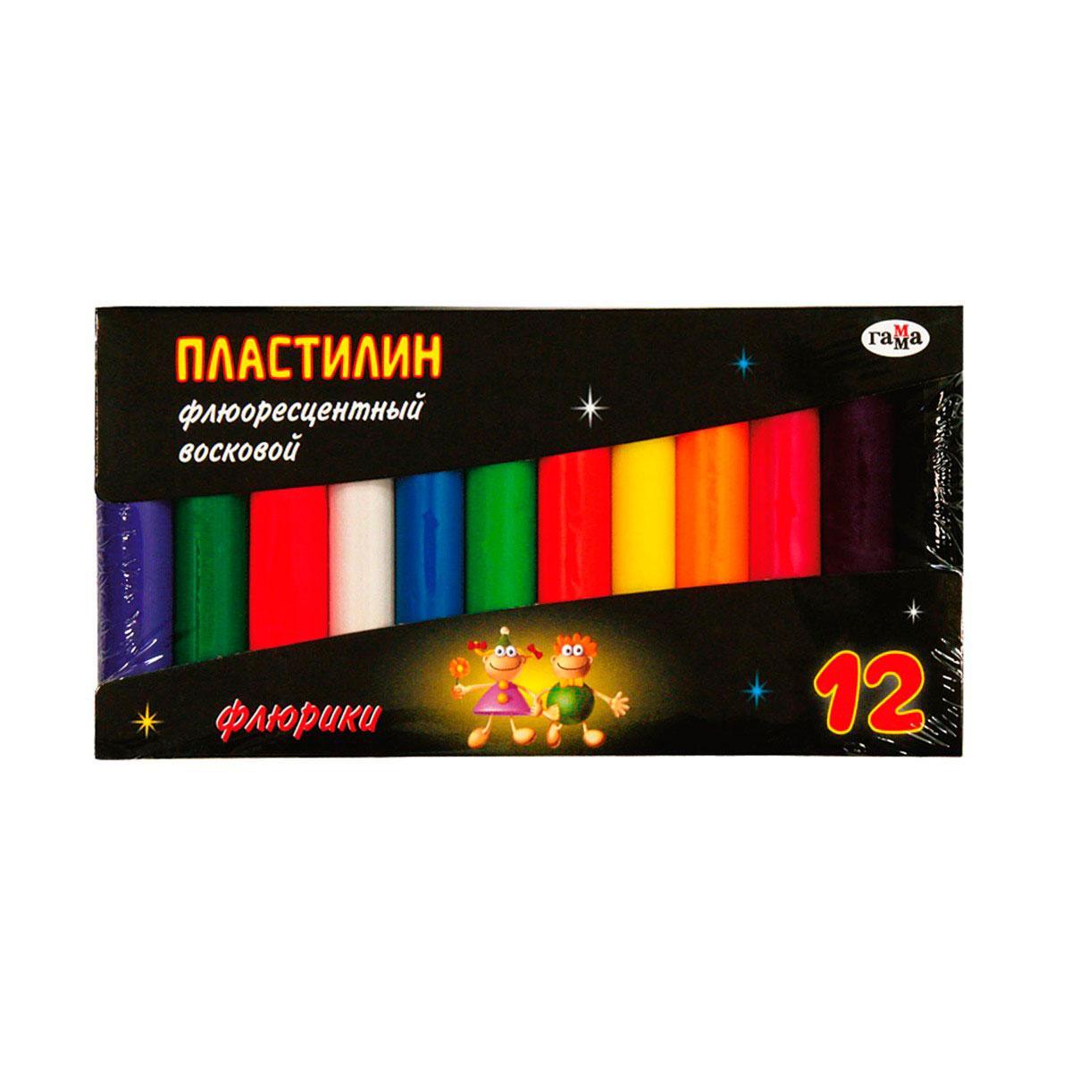 Пластилин ГАММА Восковой флуоресцентный<br>