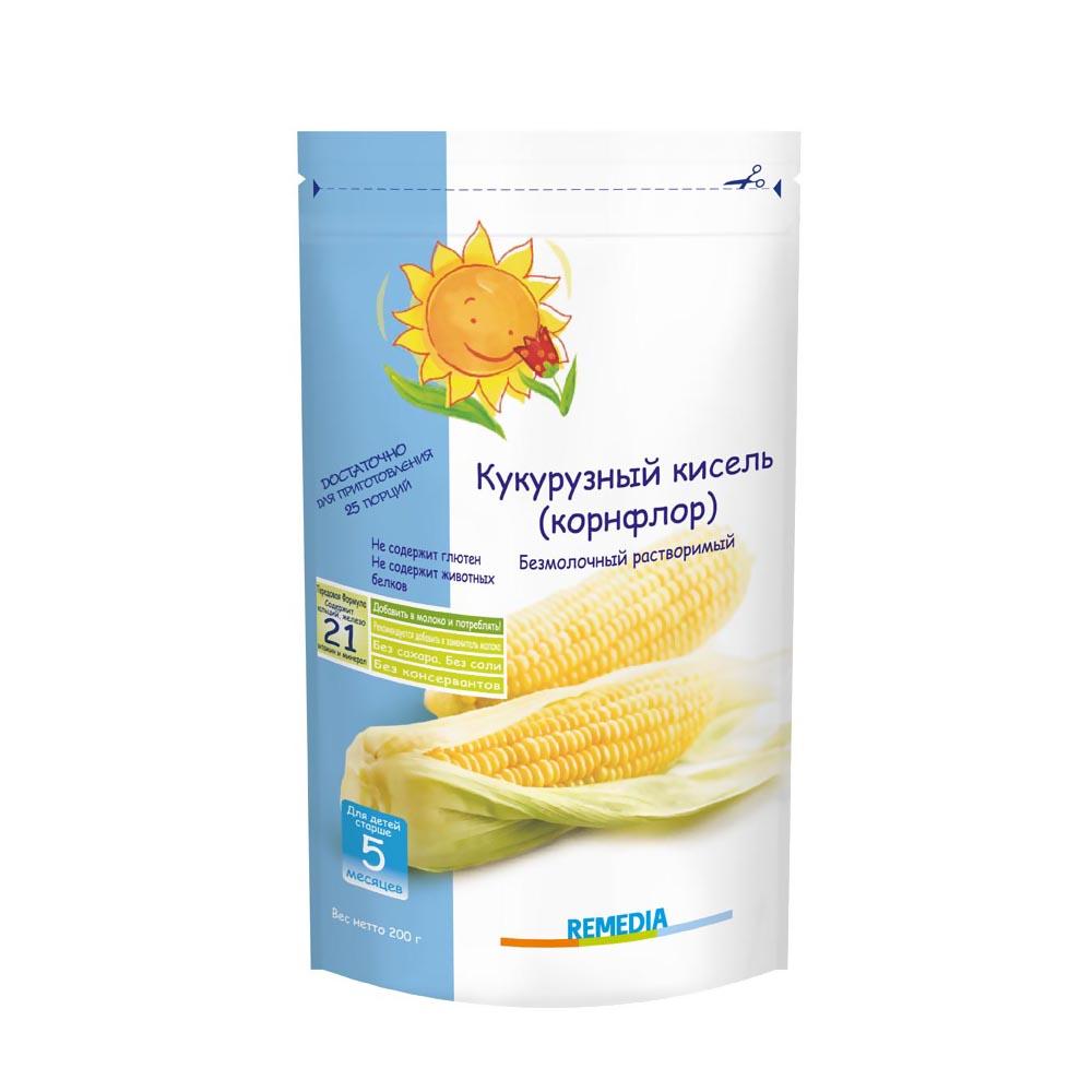 Каша Remedia безмолочная 200 гр Кукурузный кисель (корнфлор) (с 5 мес)<br>
