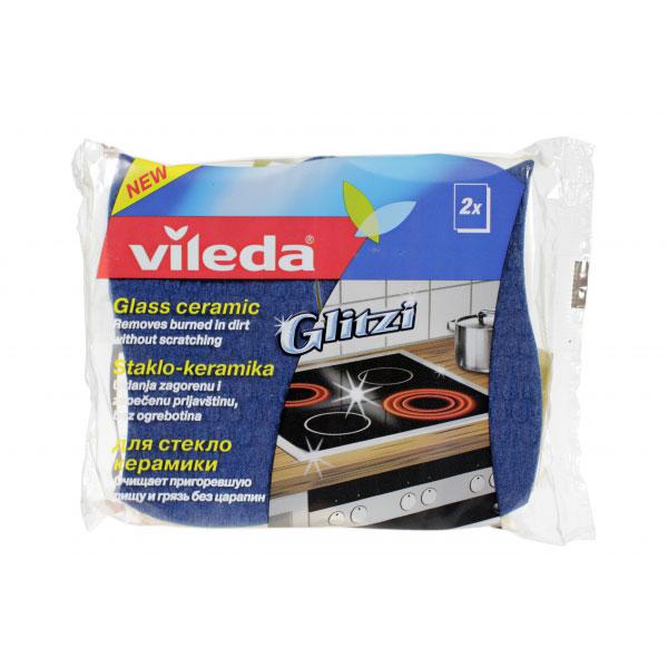 Губка Vileda Glitzi для стеклокерамики 2 шт<br>