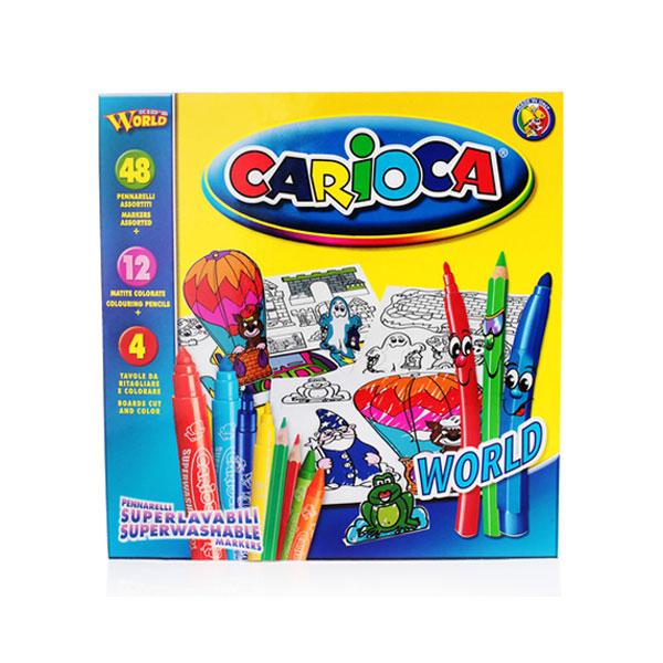 Набор для рисования UNIVERSAL CARIOCA WORLD (64 предмета)<br>