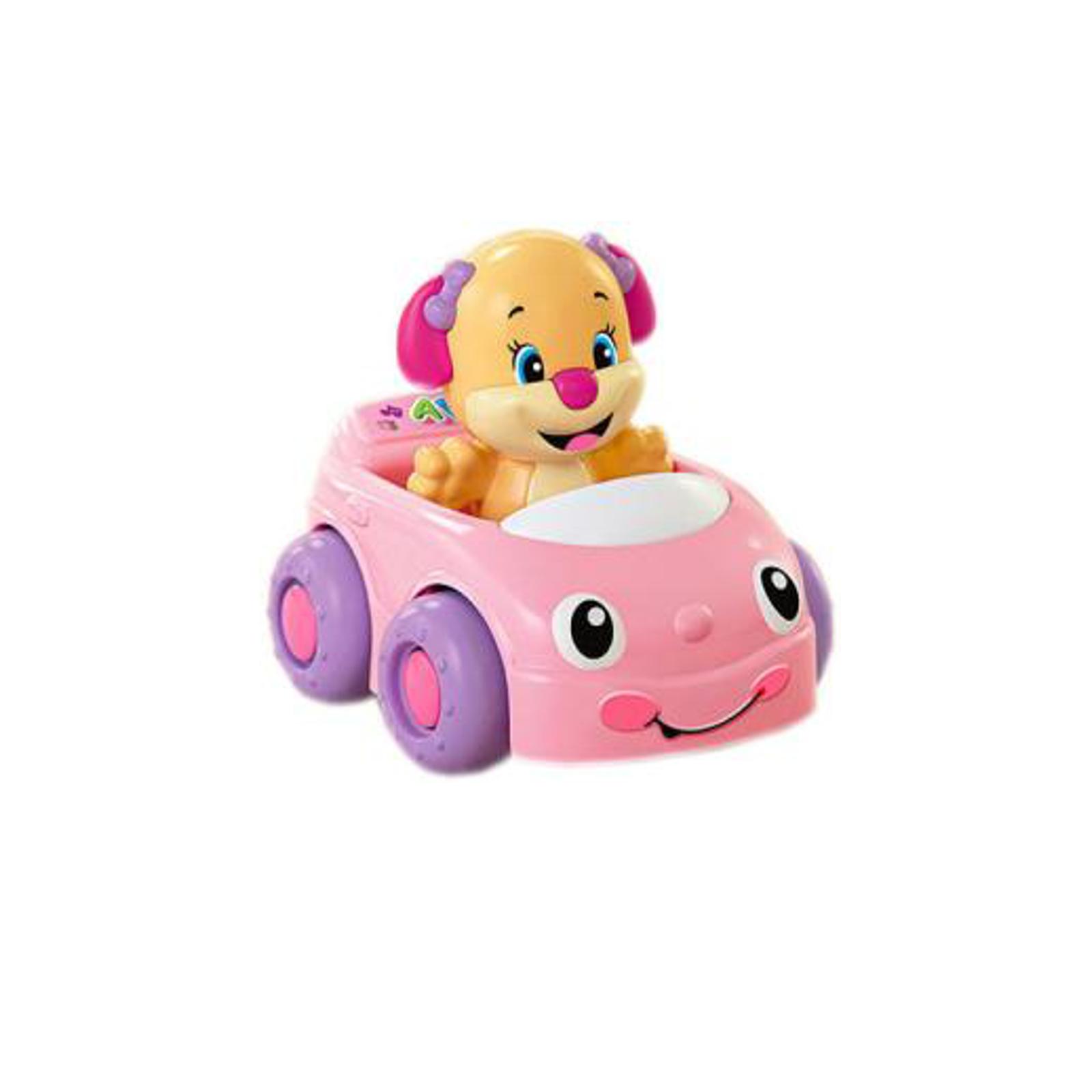 Развивающая игрушка Fisher Price Смейся и Учись Сестричка щенка на машинке с 6 мес.