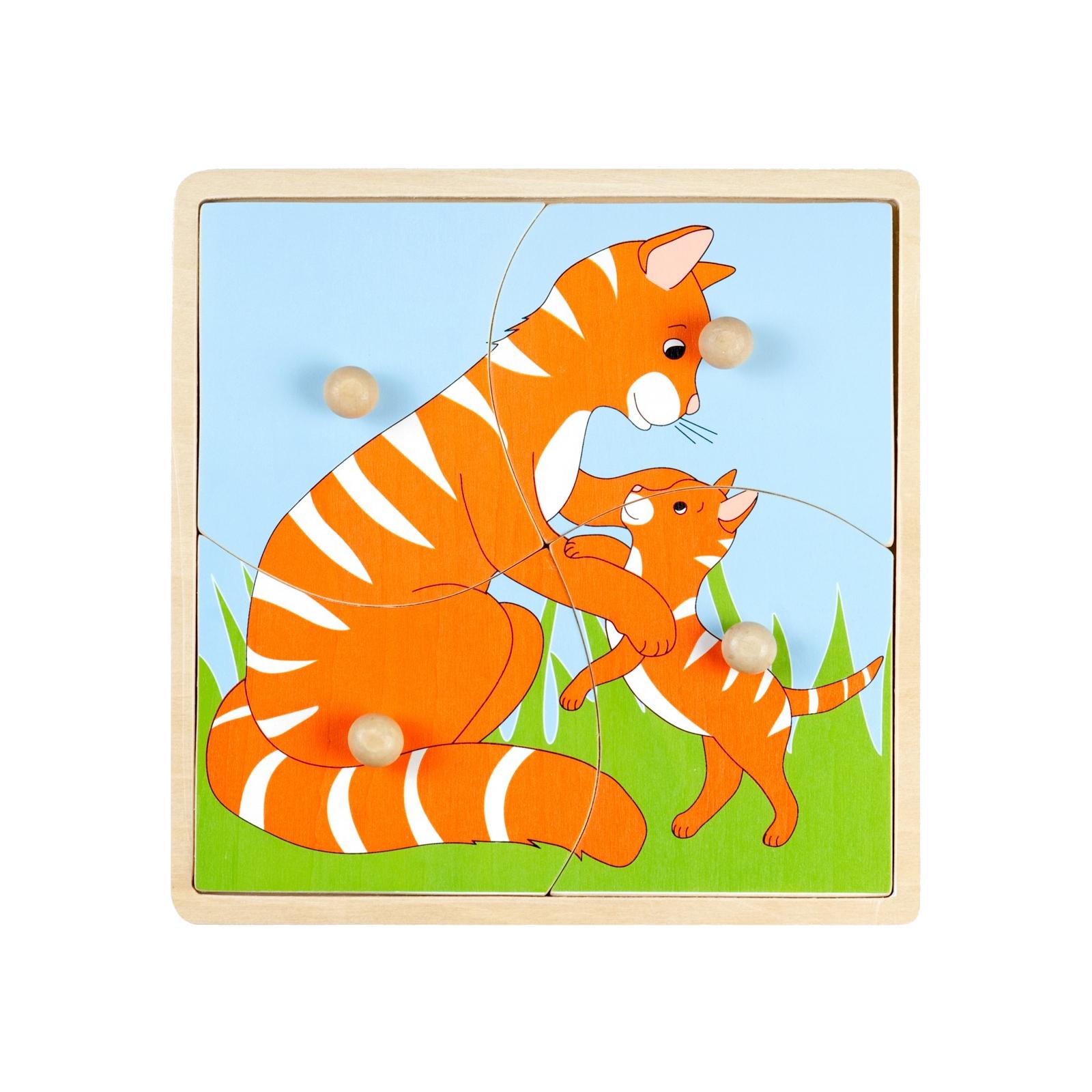 Пазл Маленький гений Мать и дитя Кошка<br>