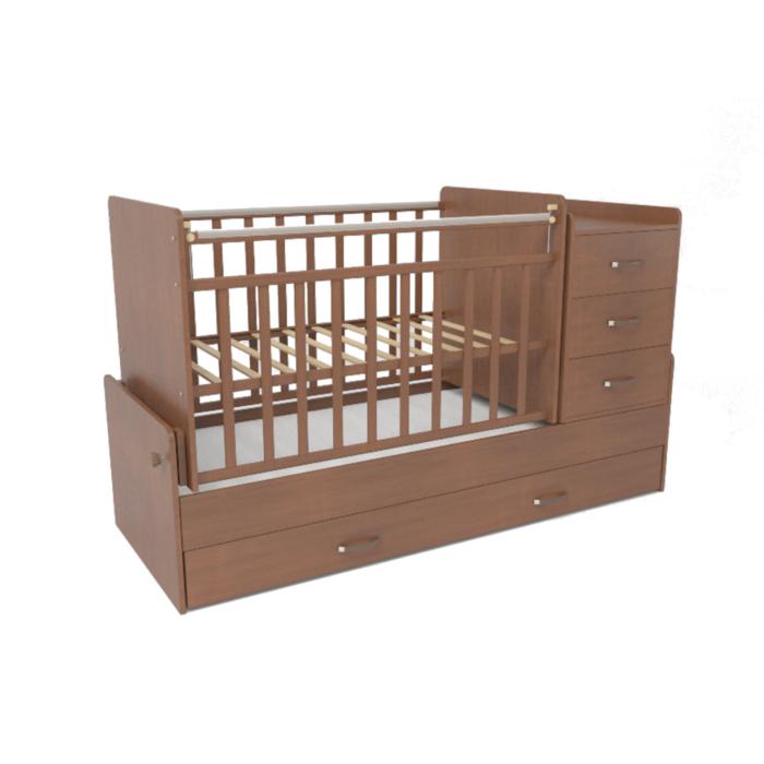 Кроватка-трансформер СКВ компани 53403 Орех<br>