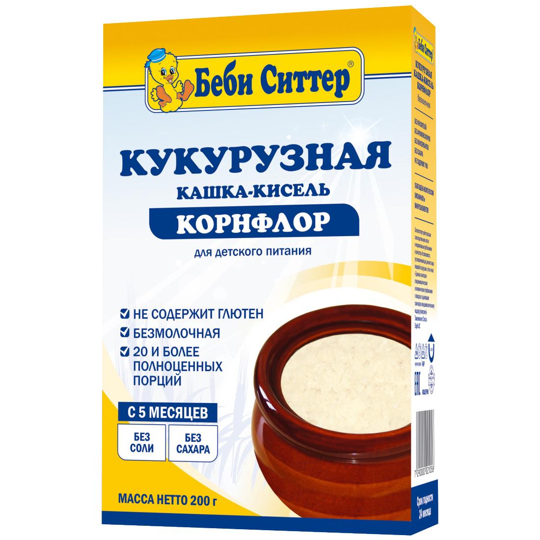 Каша Baby Sitter безмолочная 200 гр Кукурузная (с 5 мес)<br>