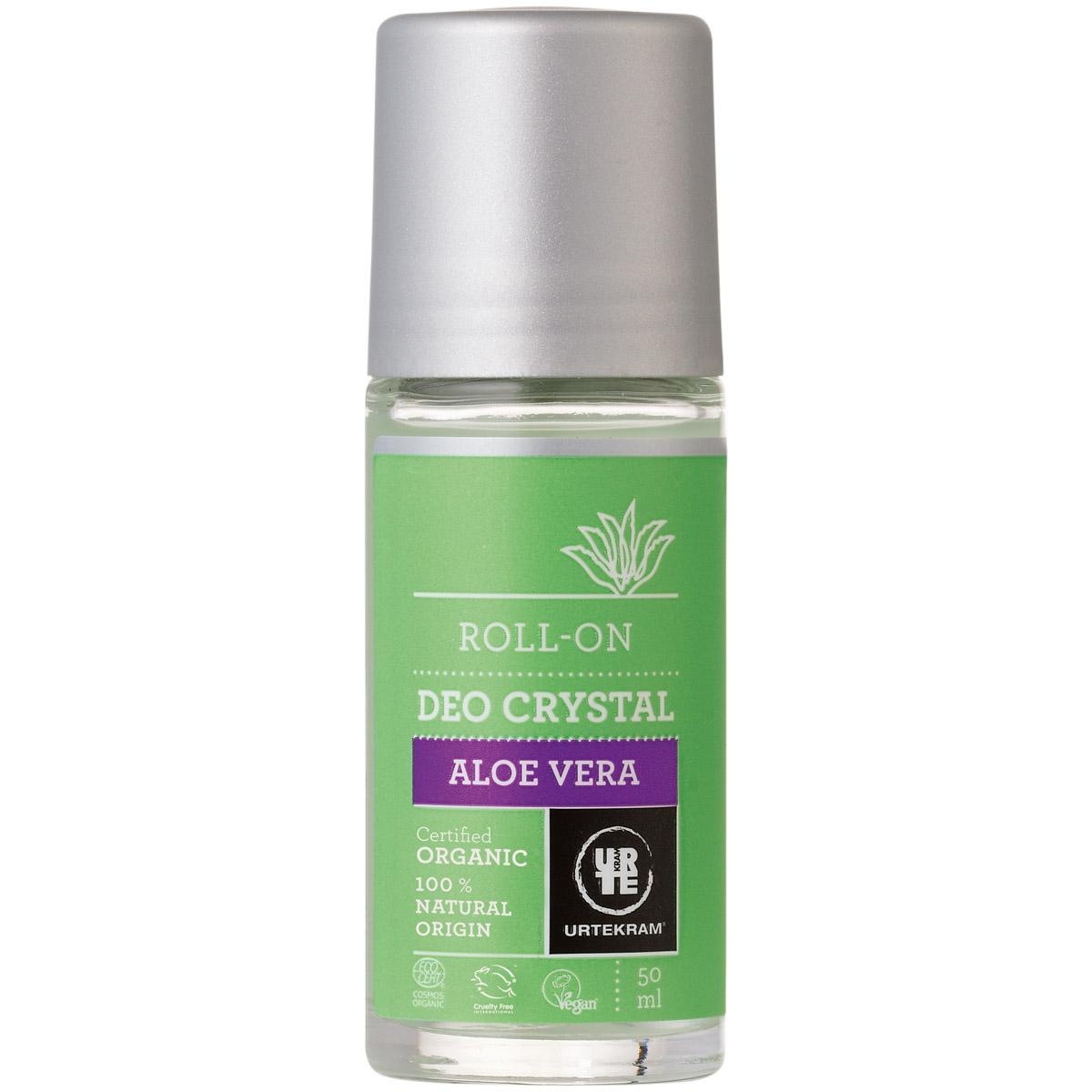 Дезодорант-кристалл Urtekram шариковый алоэ вера 50 мл<br>