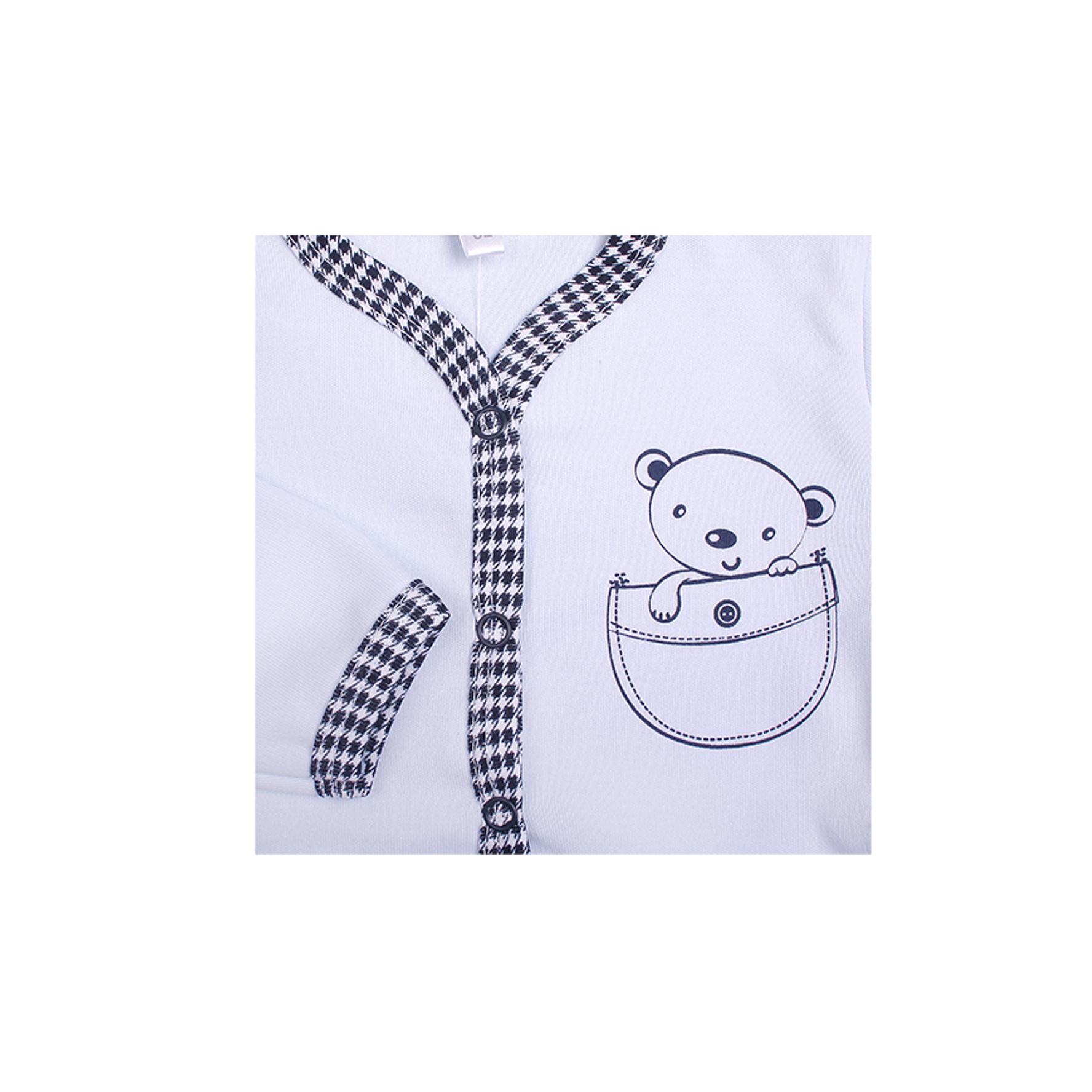 Боди Idea Kids Мишка длинный рукав, застежка спереди, с принтом, интерлок Размер 62 от Младенец.ru
