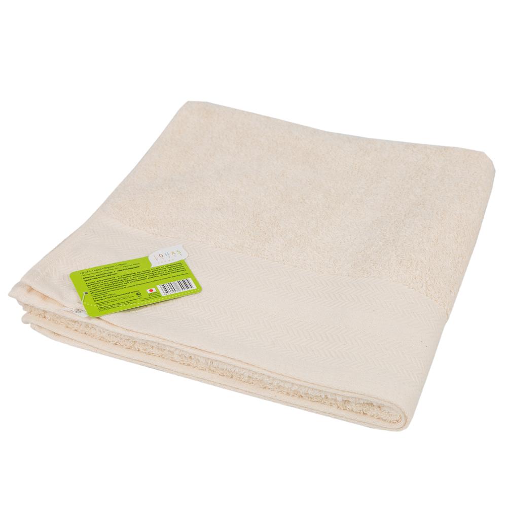 Полотенце банное LOHAS Organic Cotton 60 х 130 см Бежевое (1 шт)<br>