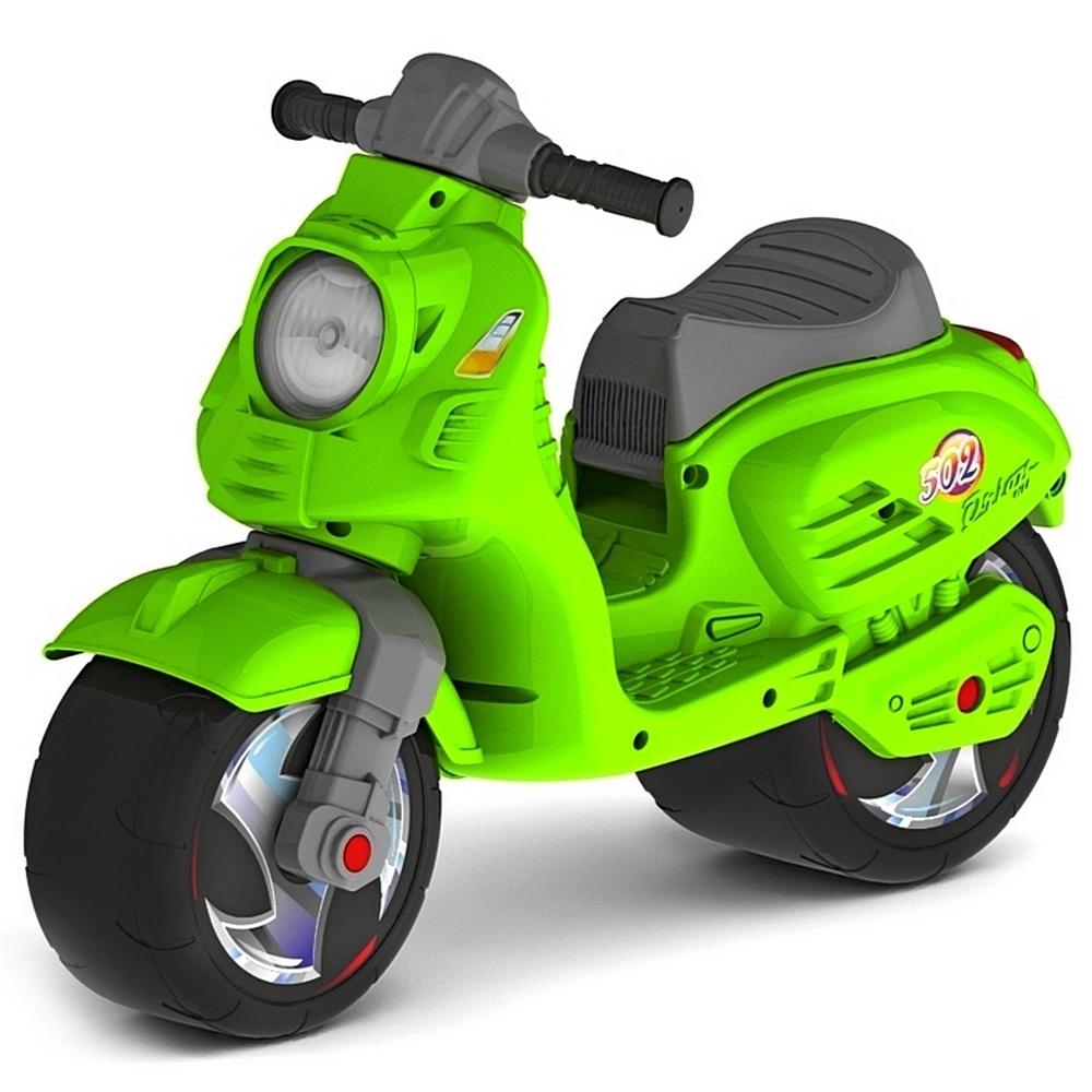 Каталка-мотоцикл ОР502 Скутер Зеленый<br>