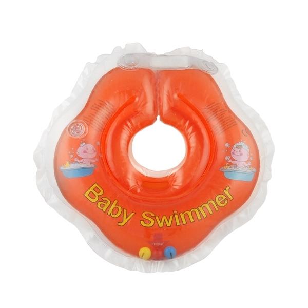 Круг на шею Baby Swimmer с 0 мес (3-12 кг) Оранжевый<br>