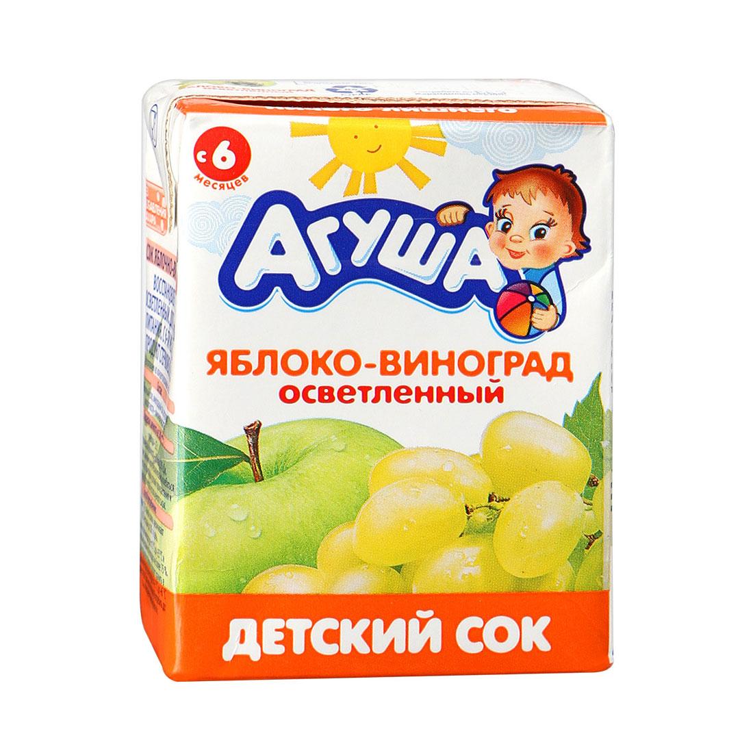 Сок Агуша 200 мл (тетрапак) Яблоко виноград (с 6 мес)<br>