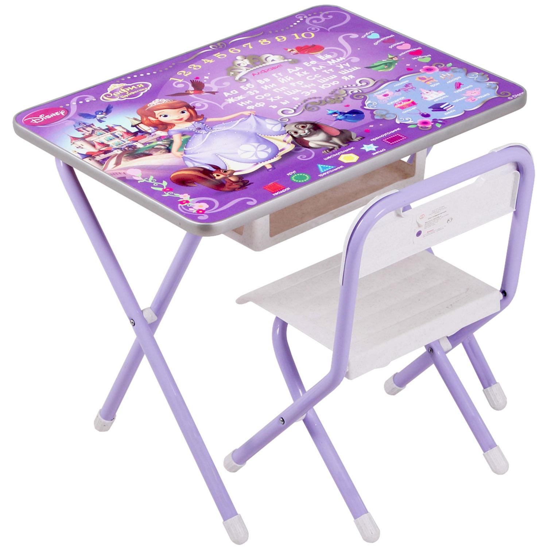 Набор мебели стол и стул Дэми №1 София Прекрасная Фиолетовый<br>