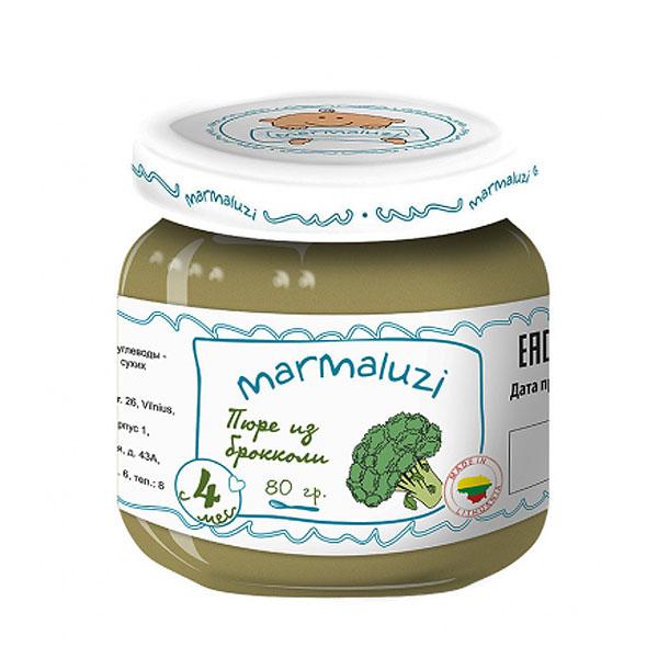 Пюре Marmaluzi овощное 80 гр Броколли (с 4 мес)<br>