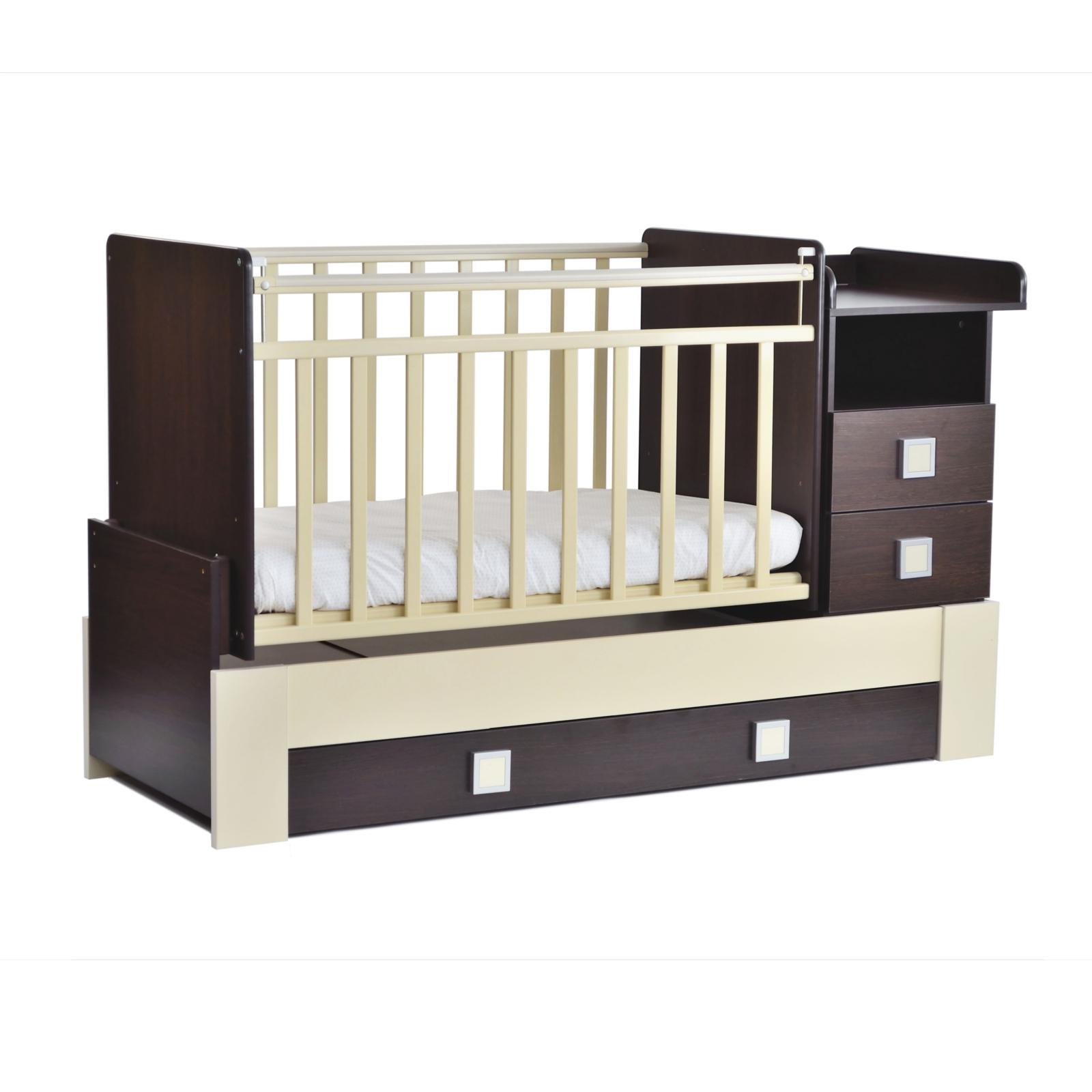Кроватка-трансформер СКВ компани 83003 Венге/Бежевая<br>