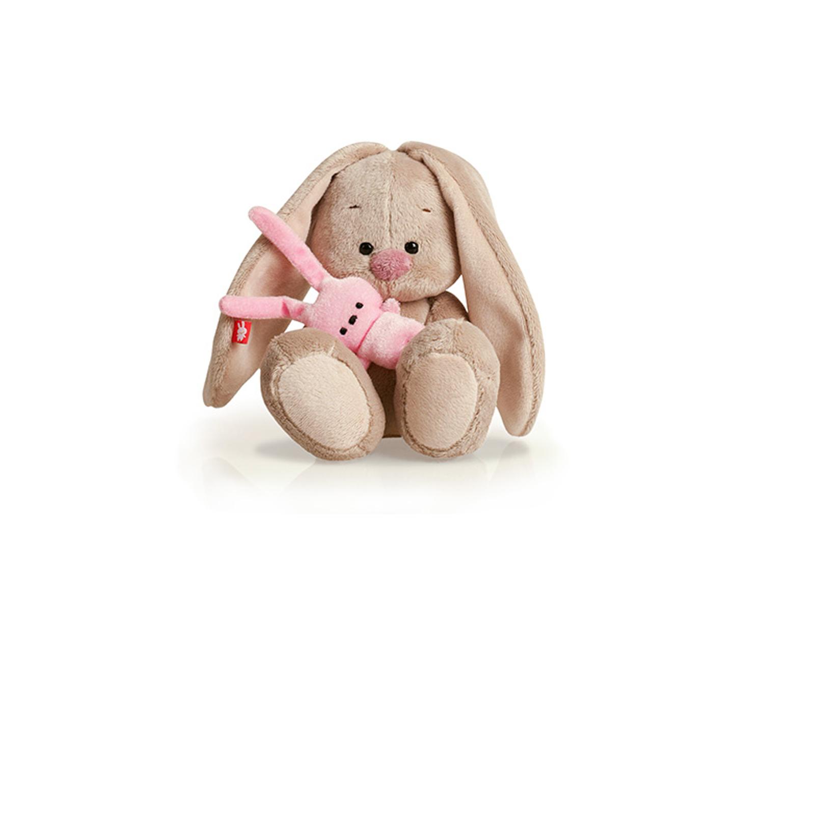 Мягкая игрушка Зайка Ми с розовым зайкой 15 см