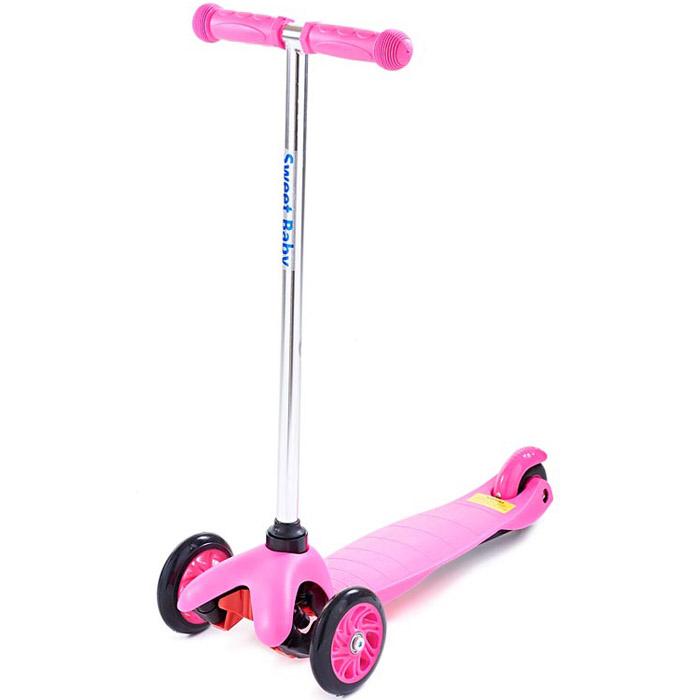 Трехколесный самокат Sweet Baby Triplex Bright Pink<br>