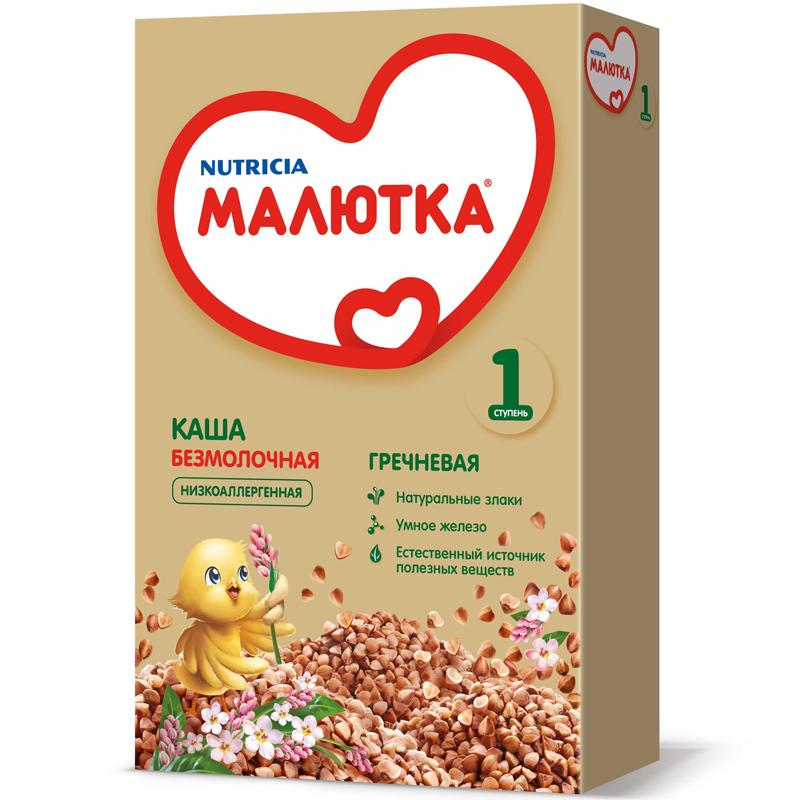 Каша Малютка безмолочная 200 гр Гречневая (4 мес) (Малютка (Nutricia))